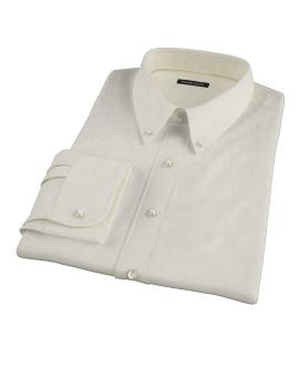 Bowery Yellow Pinpoint Custom Dress Shirt