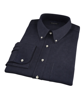 Wythe Black Oxford Fitted Dress Shirt