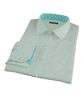Light Green Heavy Oxford Cloth Fitted Dress Shirt