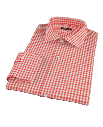 Canclini Red Gingham Men's Dress Shirt