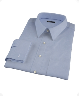 Blue Cavalry Twill Men's Dress Shirt