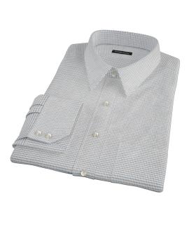 Coffee & Blue Check Custom Made Shirt