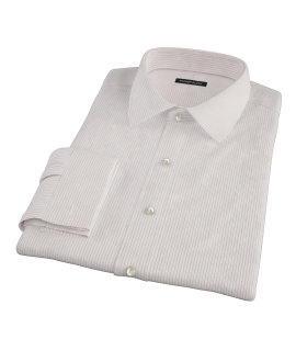 Morton Wrinke-Resistant Red Stripe Fitted Shirt
