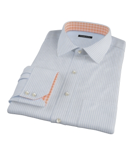 140s Wrinkle Resistant Light Blue Bengal Stripe Tailor Made Shirt