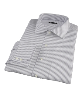 Canclini Black Stripe Dress Shirt