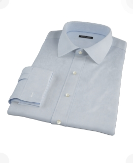 Canclini Light Blue Imperial Twill Custom Dress Shirt