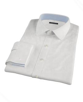 Albini Luxury White Lattice Grid Tailor Made Shirt