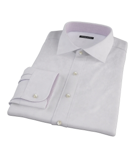 Wrinkle Resistant Purple Multi Grid Fitted Shirt