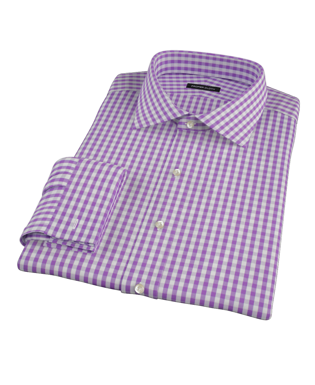 Purple Aster Gingham Men 39 S Dress Shirt By Proper Cloth