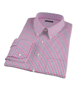 Red and Navy Gingham Custom Made Shirt