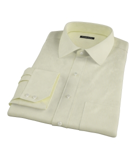 Yellow End-on-End Stripe Tailor Made Shirt