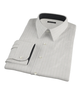 Lavender Grey Dobby Stripe Fitted Shirt