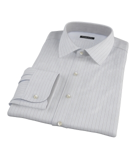 Canclini Grey Multi Stripe Custom Made Shirt