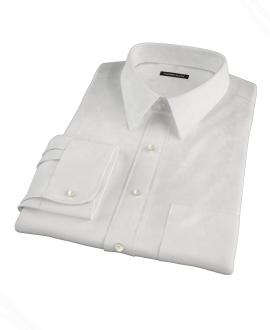 Albini Luxury White Lattice Grid Men's Dress Shirt