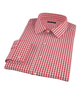 Union Red Gingham Custom Dress Shirt