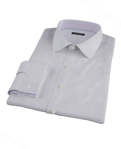 Albini Purple Fine Stripe Fitted Dress Shirt