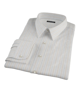 Blue and Orange Stripe Tailor Made Shirt