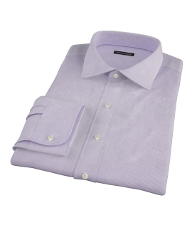 Purple Mini Grid Fitted Dress Shirt