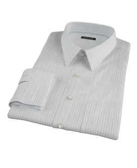 Light Blue Grey Dobby Stripe Tailor Made Shirt