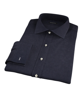 Black 100s Twill Fitted Dress Shirt