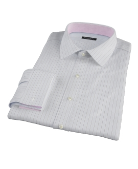 Canclini Grey Multi Stripe Men's Dress Shirt