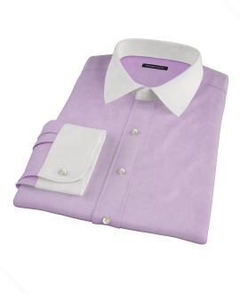 Jones Purple End-on-End Fitted Shirt