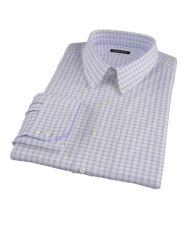 Thomas Mason Lavender Grid Fitted Shirt