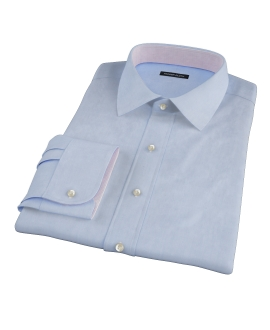 Sky Blue 100s End-on-End Fitted Dress Shirt