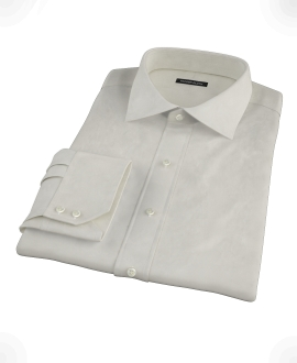Ivory Easy Care Broadcloth Tailor Made Shirt