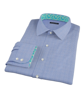 Dark Blue Glen Plaid Tailor Made Shirt