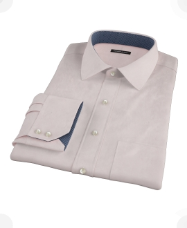 Pink 100s Twill Fitted Shirt