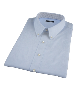 Light Blue Cavalry Twill Herringbone Short Sleeve Shirt