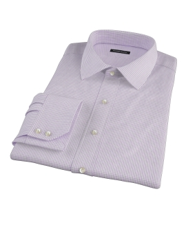 Purple Small Grid Fitted Dress Shirt