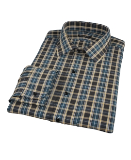 Whistler Green Plaid Men's Dress Shirt