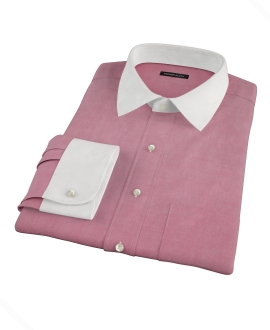 Red Oxford Fitted Dress Shirt