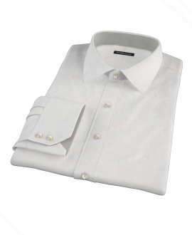Canclini White Fine Twill Tailor Made Shirt