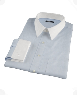 Canclini Light Blue Imperial Twill Tailor Made Shirt