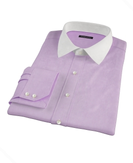 Jones Purple End-on-End Custom Dress Shirt