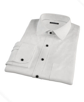 Classic White Pinpoint Custom Made Shirt