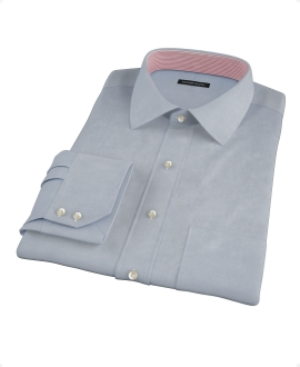 Bowery Navy Wrinkle-Resistant Pinpoint Dress Shirt