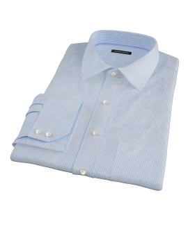 Light Blue Grant Stripe Fitted Dress Shirt