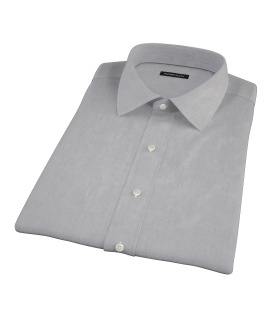 Jones Charcoal Grey End-on-End Short Sleeve Shirt