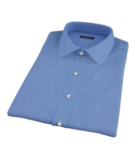 Dark Blue 100s End-on-End Short Sleeve Shirt
