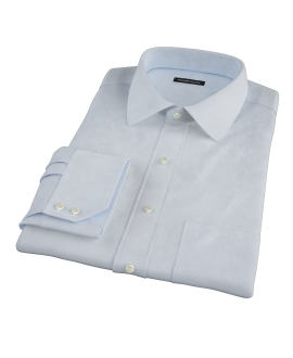 Sky Blue Cavalry Twill Herringbone Tailor Made Shirt