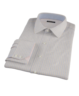 Yellow Davis Check Fitted Shirt