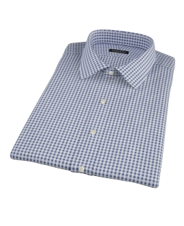 Medium Navy Gingham Short Sleeve Shirt