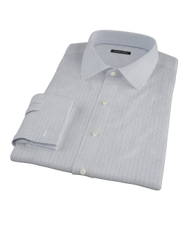 Japanese Light Blue Multi Stripe Men's Dress Shirt