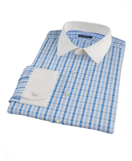 Blue and Navy Gingham Fitted Shirt