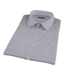 Medium Black Gingham Short Sleeve Shirt