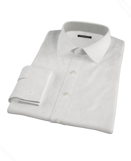 Classic White Pinpoint Fitted Shirt